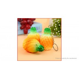 7cm Pineapple Charms Squishy Fruit Phone Bag Keychain Decoration (2-Pack)
